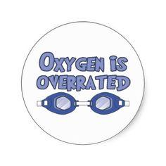 Triathlon swim - Oxygen is overrated sticker