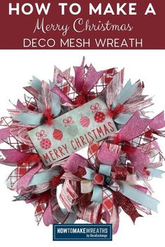 Ready for the holiday season? Here's an easy DIY wreath that will bring cheer and smiles. This festive mesh wreath is perfect for this time of year! It can be hung on your door or over your fireplace. Have fun making it and enjoy! Watch out, you might find yourself wanting one for every room :)