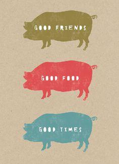 Good Friends (Brown Prints)