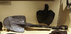 Roman shovels found . Zugmantel - Saalburg museum of archeology - Germany, 1st to 3rd century AD
