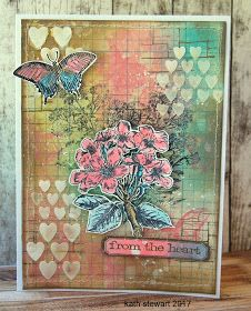 Hi folks...it's Mother's Day here in the UK and I'm sharing a card I made with 2 of the new stamp sets from Tim Holtz and Stampers Anonymous...