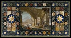 Table top with view of Colosseum in Rome, 1780s, Florence