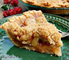 Dutch Apple Pie is my all time favorite pie.  Homemade crust, apples , cinnamon and the crumb topping...I love the c...