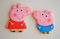 Some cute Peppa Pig cookies. For more Peppa Pig products visit www.buildabirthday.co.nz
