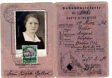 Postausweiskarte mit 50 Pf Hindenburg, Berlin 1939