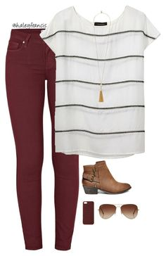 Wide stripes The post Burgundy skinny jeans appeared first on Casual Outfits. Casual Outfits, Cute Outfits, Fashion Outfits, Womens Fashion, Shop This Look Outfits, Emo Outfits, Fashion Clothes, Fashion Fashion, Fall Winter Outfits
