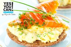 Salmon Open Sandwich - A healthy option for your Yes You Can! Diet Plan breakfast