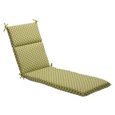 Outdoor Chaise Lounge Cushion - Green/white Geometric