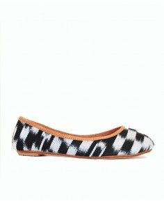 Static Flat. Sale: $40, was $120. Handwoven cotton ikat. A very sensible flat with: • Recycled tire soles • Signed by artisan • Hand crafted • Limited stock