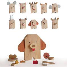 Hermosos juguetes de madera para mantener felices a los más pequeños