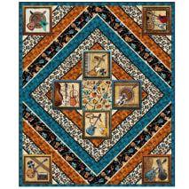 QT Fabrics Good Vibrations Throw Quilt 52 x 62 Multi