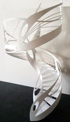 Artistic Spiral Staircase Models Should You See! Staircase Railings, Modern Staircase, Spiral Staircase, Staircase Design, Stairways, Stair Design, Interior Stairs, Interior Architecture, Stairs To Heaven