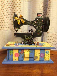 Costurero Maquina de coser. Madera tipo Country
