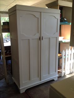 Restored white painted cupboard. Lorraine's cupboard!