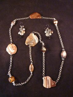 Agates and More for Rwanda by carolesart on Etsy, $225.00...all the proceeds from this necklace and matching earrings will be donated to a group that is going to Rwanda in June to work with Orphans, Street Kids, and Widows.