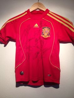 Spain International Team Shirt Signed By 08 Euro Winning Squad COA