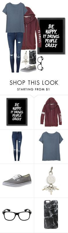 """""""Be happy; it drives people crazy."""" by music0blivion ❤ liked on Polyvore featuring Americanflat, Miss Selfridge, Vans, Alexander Wang, Casetify, women's clothing, women, female, woman and misses"""