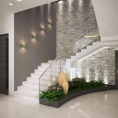 Add the mid-century decor touch to your home interior design project! Minimalist House Design, Minimalist Home, Modern House Design, Modern Interior Design, Interior Design Living Room, Home Stairs Design, Interior Stairs, Modern Staircase, Staircase Ideas