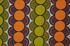 stof gordijnstof curtains fabric stippen polka dots 1960s / 1970s vintagexplosion
