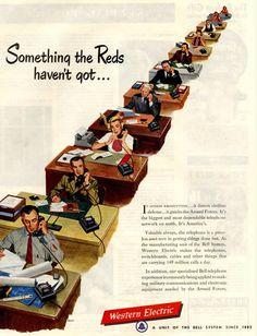 Something the reds have not got    15 Interesting Cold War Vintage Ads - Oddee.com (war advertising, war ads)