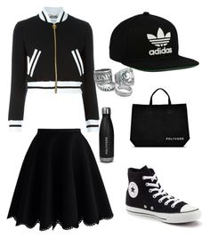 """""""#ContestOnTheGo #ContestEntry"""" by ifrahhassan ❤ liked on Polyvore featuring Chicwish, Converse, Moschino, adidas Originals, contestentry and ContestOnTheGo"""