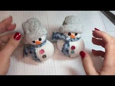 Jus4sweetz Easy Scented Sock Snowman - YouTube