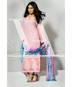 Pakistani Suits Vaneeza Eid Collection 2015 Silk Chiffon