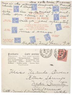 carte postale.