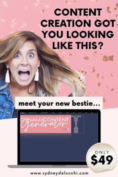 Content Creation for Social Media made EASY! Download your copy of the Dynamic Content Generator today - no fluff, REAL converting content prompts specific to YOUR business or launch. Click Visit to learn more!