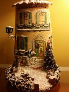 Tegola in 3D in tema natalizio