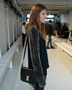 spiked sleeves and Celine.