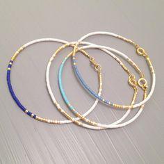 Everyday bracelet tiny gold bracelet gold bead bracelet Every day Jewelry - Schmuck Ideen - Bracelets Friendship Bracelets With Beads, Simple Bracelets, Layered Bracelets, Seed Bead Bracelets, Seed Bead Jewelry, Simple Jewelry, Bracelet Set, Diy Jewelry, Beaded Jewelry