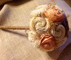 AVAILABLE in ANY colorToss Bouquet Sola Flower by AllaboutBurlap
