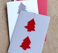 Selbst genähte Weihnachtskarten - Aus der aktuellen LIVING AT HOME 2 - [LIVING AT HOME]