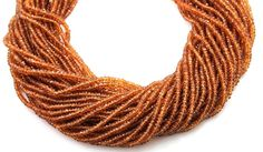 Natural NO TREATMENT Spessartite Micro Faceted by Beadspoint, $21.99