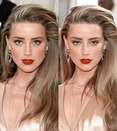 Amber Heard makeup.