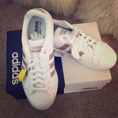 4574c91ec Brand new adidas rose gold shoes