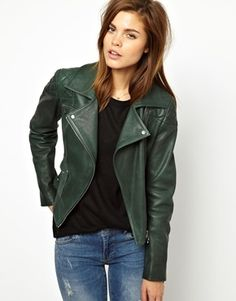 Karen Millen Luxury Leather Biker Jacket Do you mean Gorgeous?!