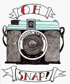 /// diana mini /// Katie Cuts Paper =D Photography Puns, Quotes About Photography, Photography Classes, Outdoor Photography, Paper Camera, Camera Art, Camera Drawing, Camera Sketches, Camera Illustration