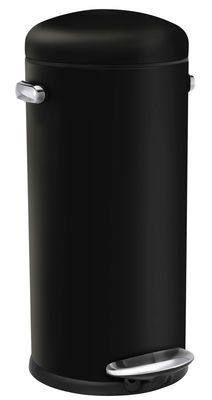 £92 Retro Pedal bin - / 30 Liters Black by Simple Human