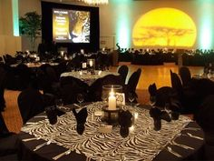 party decoration ideas with african theme   Safari - Theme Decor - Event Gallery - Portland Event Rentals (Peter ...