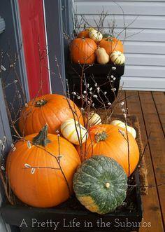 Fall Porch Decorating Ideas {A Pretty Life}