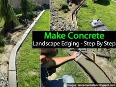 Diy Make Concrete Landscape Edging Step By