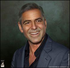 3D portrait of George Clooney, Hossein Diba on ArtStation at https://www.artstation.com/artwork/gP1Zx