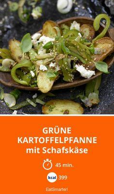 Grüne Kartoffelpfanne - mit Schafskäse - smarter - Kalorien: 399 Kcal - Zeit: 45 Min. | eatsmarter.de