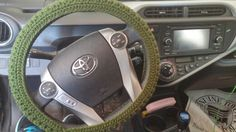 Pattern from: http://stitch11.com/free-steering-wheel-cover-crochet-pattern/