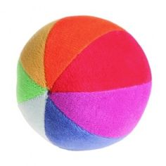 Soft Cotton Rainbow Ball. Natural cotton, stuffed with wool. Made in Germany. From Bella Luna Toys. $19.95