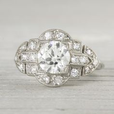 Image of 1.03 Carat Vintage Art Deco Diamond Engagement Ring