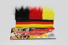 """Tolle Fanartikel zur Fußball-WM 2014, wie """"Deutschland Stirnband mit Perücke"""" jetzt hier erhältlich: http://fussball-fanartikel.einfach-kaufen.net/flaggen-wimpel/deutschland-stirnband-mit-peruecke/"""