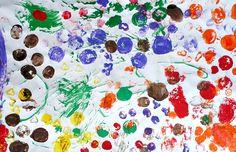 Vegetable Painting Preschool Art  Focus: knowledge of natural world, fine motor, creative arts
